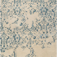 Teal Blue Area Rug Orient Design Surya