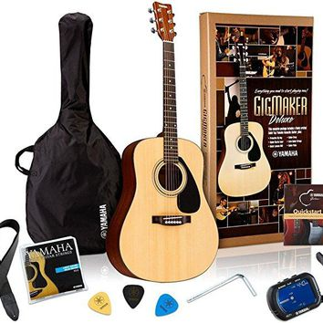 Yamaha Gigmaker Deluxe Acoustic Guitar Package with Gig Bag, Tuner, Instruction