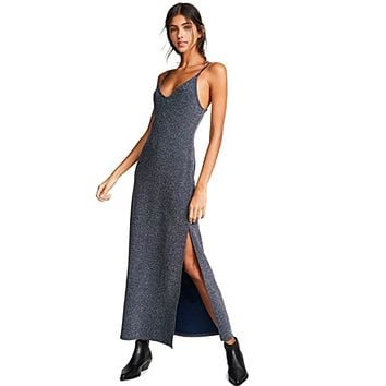 Free People - Lola Metallic Maxi Dress - Silver