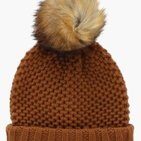 Textured Knit Turn Up Beanie | Boohoo