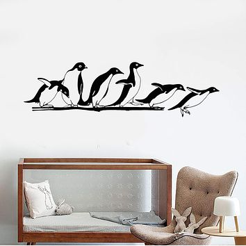 Vinyl Wall Decal Antarctica Animals Penguins Zoo Nursery Decor Stickers Unique Gift (1812ig)