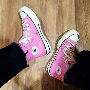 """Converse"" Fashion Canvas Flats Sneakers Sport Shoes Hight top Pink"