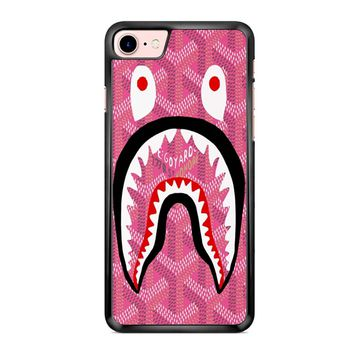 Shark Bape Goyard Pink iPhone 7 Case
