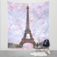 Wall Tapestry - 'From Paris with Love' - Home Decor - Wall Decor, Modern, Home Warming Gift, Symmetry, Bohemian, Boho, Floral