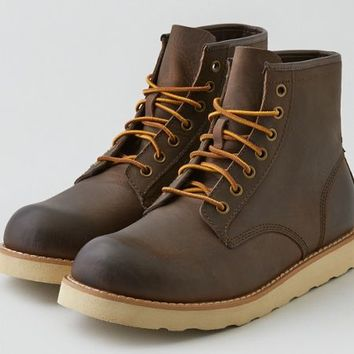AEO Men's Lumber Up Plain Toe Boot (Brown)