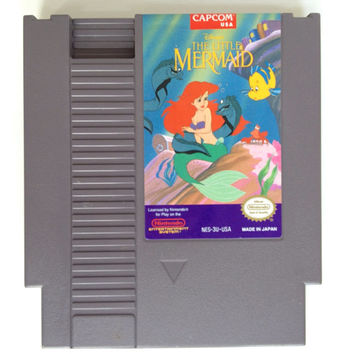 Vintage The Little Mermaid NES Nintendo Game