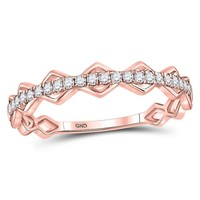 10k Rose Gold Women's Diamond Stackable Ring