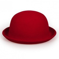 Dark red wool bowler hats   style zz92601504 in  Indressme