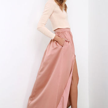 'Twas a Dream Blush Maxi Skirt