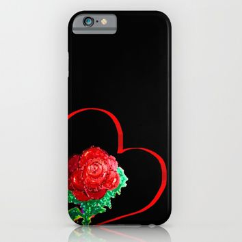 Heart of Rose iPhone & iPod Case by ES Creative Designs