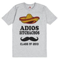 Adios Bitchachos Class Of 2013-Unisex Dark Ash T-Shirt