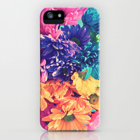 Rainbow Flowers in Sunshine iPhone & iPod Case by EllipsisArts