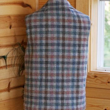 Pendleton Plaid Wool Lined Vest