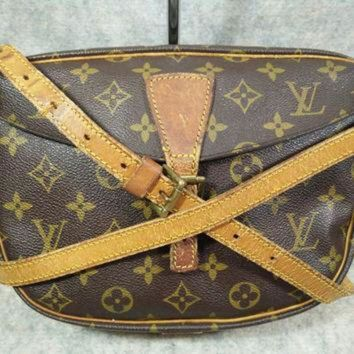 PEAPYD9 Auth Louis Vuitton Monogram Vintage Jeune Fille in1987 Crossbody Bag, Shoulder Bag, Co