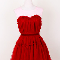 Dreamy Fluffy Dress Red One