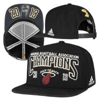 Miami Heat 2013 NBA Finals Champions Official Locker Room Snapback Hat