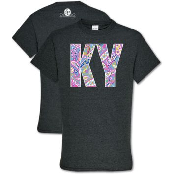 Southern Couture Soft Collection Paisley Kentucky T-Shirt