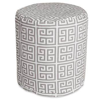 Gray Towers Small Pouf