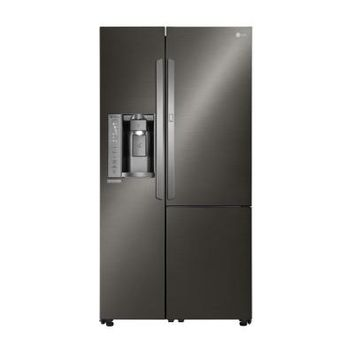 LG Electronics 26.1 cu. ft. Side by Side Refrigerator with Door in Door in Black Stainless Steel-LSXS26366D - The Home Depot