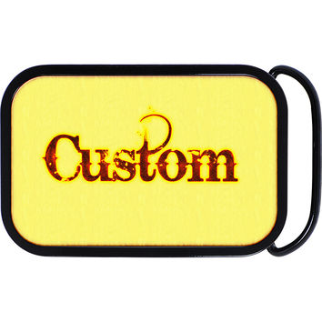 Custom Full Color DISTRESSED GOTHIC Personalized Belt Buckle