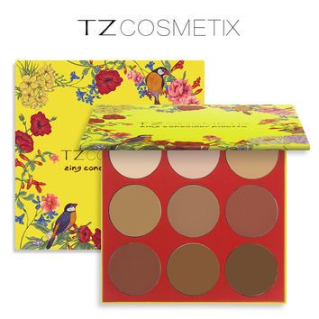 New TZ 9-color maquiagem highlighter repair capacity Concealer makeup palette moisturizing concealer  shadow Cosmetics