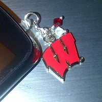 Wisconsin Badgers Cell Phone Dust Plug Charm