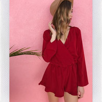 SETTING FIRES PLAYSUIT- RED