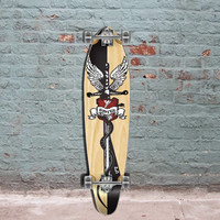 "Kicktail Longboard Graphic - Smite - 40"" from Punked - Complete"