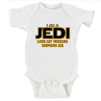 I Am A Jedi Like My Father Before Me Gerber Onesuit ®