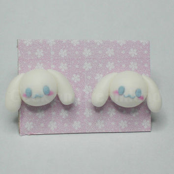 Cinnamoroll earrings studs kawaii Sanrio