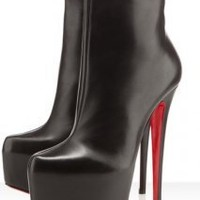 Christian Louboutin Daf Booty 160mm Leather Boots -