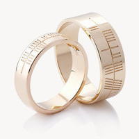 AMAZING HIS AND HER LOVE BAND 925 STERLING SILVER FOR ENAGEGMENT AND WEDDING