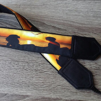 Couple Camera Strap. Romantic Camera Strap. Sunset Camera Strap. Beach  Camera Strap. Photo Accessories