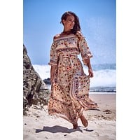 Havana Off Shoulder Maxi Dress