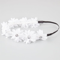 Full Tilt Chiffon Flower Headband White One Size For Women 21998715001