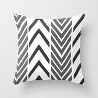 Black Arrow Pillow -  Pillow Cover Only - Black and White Arrow Pillow - Sofa Pillow Cover - Black White Arrow Art - Made to Order