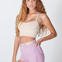 American Apparel - Stretch Twill High-Waist Side Zipper Short