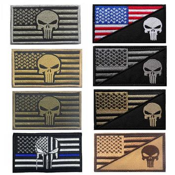 DCCKJG2 2016 Army Fans Outdoor Popular Embroidered Armbands + Punisher American Flag Standard Cloth Embroidered Patches Accessory