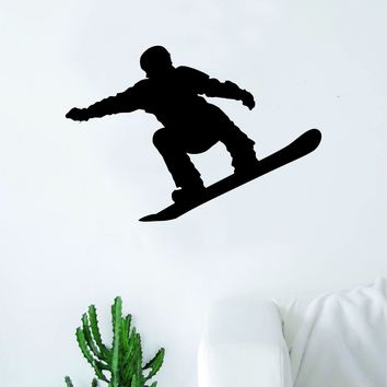 Snowboarder V4 Wall Decal Sticker Vinyl Art Bedroom Room Home Decor Teen Baby Boy Girl Nursery Sports Snow Mountains Board