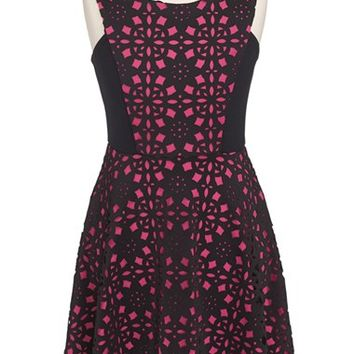 Girl's Ten Sixty Sherman 'Techno' Sleeveless Fit & Flare Dress,