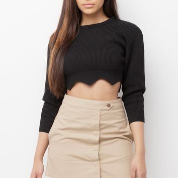 CHARMED AND DANGEROUS CARGO SKIRT - KHAKI