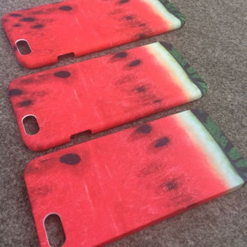 Watermelon iPhone Case  iPhone 4 4S Iphone 5 5S Iphone 6 PLUS Flowing Color Glitter