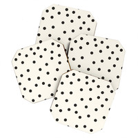 Garima Dhawan Vintage Dots Black Coaster Set