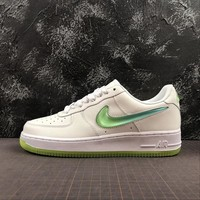 Nike Air Force 1 White Volt AF1 Low Sport Shoes - Best Online Sale