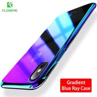 FLOVEME Changing Color Clear Case For iPhone X Case Mobile Phone Accessories For iPhone 8 7 6 6s Plus iPhone 5 5S Case