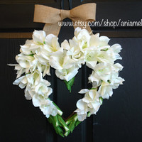 summer wreaths, heart wreath, wedding front door wreaths decorations outdoor wreaths