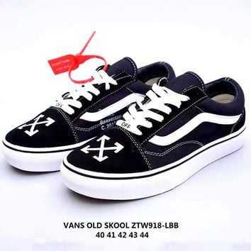 OFF-WHITE x Vans low-top skateboard shoes