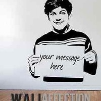 1D - LOUIS TOMLINSON- PERSONALISED ONE DIRECTION VINYL WALL DECAL STICKER POSTER