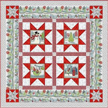 Holiday Cheer Quilt Kit in Red