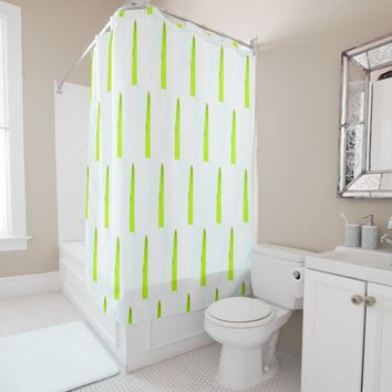 Stylish Green Grass Minimalistic Shower Cusrtain Shower Curtain